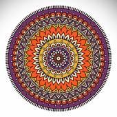 Mandala decoración étnica — Vector de stock