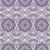 Patrón floral transparente indio — Vector de stock