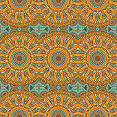 Indian seamless floral pattern — 图库矢量图片