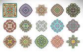 Mandala. adorno redondo patrón establecido — Vector de stock