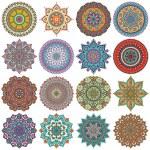 Mandala. Adorno redondo patrón establecido — Foto de Stock   #70296225