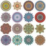 Mandala. ronde ornament patroon ingesteld — Stockfoto #70296225