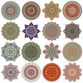Mandala. Round Ornament Pattern set — Stock Photo
