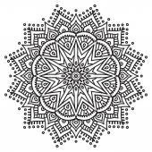Mandala. ronde ornament patroon — Stockvector