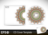 Cd cover design template.Vector illustration — Stock Vector