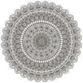 Round vector ornament in ethnic style — Vettoriale Stock