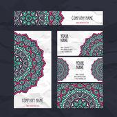 Business Cards. Vintage decorative elements.  — Stock Vector