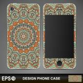 Phone case design. Vintage decorative elements.  — Stock Vector