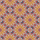 Vector ethnic seamless pattern — Stock Vector