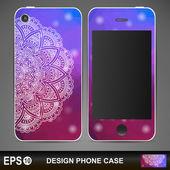 Phone case design.  — Stock Vector