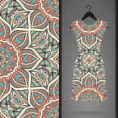 Elbise ve Dikişsiz desen kartı. — Stok Vektör