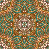 Ethnic floral seamless pattern — Stockvektor