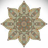 Beautiful  card with mandala — Stock Vector