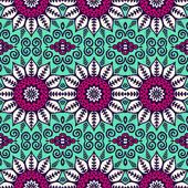 Ethnic floral seamless pattern — Stock Vector