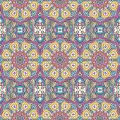 Modèle seamless floral ethnique — Vecteur