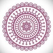 L'ornement de belle carte avec mandala — Vecteur