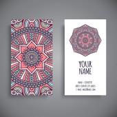 Visitenkarte. Alte dekorative Elemente. — Stockvektor