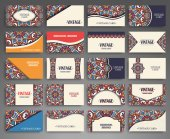 Business card. Vintage decorative elements. — Stock Vector