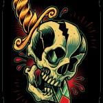 Skull and Dagger — Stock Vector #64119273