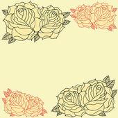 Roses frame — Stock Vector