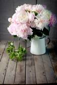 Bunch of peony flowers — Stock Photo