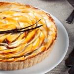 French apple tart with vanilla pod — Stock Photo #53656257
