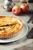 French apple tart — Stock Photo