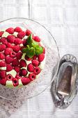 Pistachio mousse cake, — Stock Photo