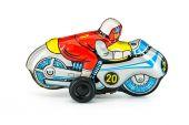 Motocycle tin toy — Stock Photo