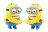 Two Minion with banana toy character from Despicable Me 2 movie. — Stok fotoğraf