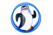 Rolling kipper penguin toy character form Penguins of Madagascar — Stock Photo