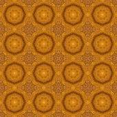 Seamless pattern with cycle gold flowers, texture background — Stock Photo