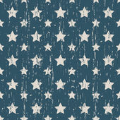 Seamless vintage worn out star shape pattern background. — Stock Vector