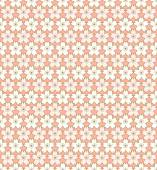 Seamless vintage pink and golden outline cherry blossom flower pattern background. — Wektor stockowy