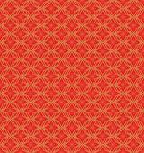 Zlatá bezešvé čínské okna síťovou geometrie květina vzorek pozadí. — Stock vektor