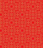 Golden nahtlose Fenster chinesische Maßwerk Polygon Geometrie Linie Hintergrundmuster. — Stockvektor