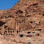 The ancient city of Petra , built in Jordan — Stock Photo #55653791