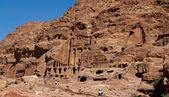 The ancient city of Petra , built in Jordan — Stock Photo