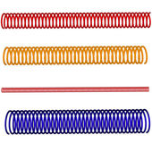 Set of colorful 3d springs — Stock Vector