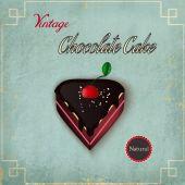 Chocolate cake on vintage background — ストックベクタ