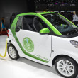 Smart Electric Drive and charging station at the Geneva Motor Show — Stock Photo #55824477