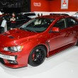 Постер, плакат: Mitsubishi Lancer EVO at the Geneva Motor Show