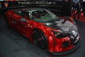 Gumpert Apollo S at the Geneva Motor Show — Stock Photo