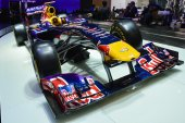 Red Bull Formula 1 car at the Geneva Motor Show — Stock Photo