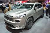 Jeep Cherokee at the Geneva Motor Show — Stock Photo
