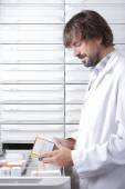 The pharmacist and the drawers  — Stock Photo