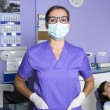 Dental assistant with a mask — Stock Photo #60802415