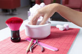 Hands preparing for manicure  — Stock Photo