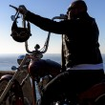 Chopper motorbike ride — Stock Photo #67020205