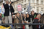 Students protest in London — Stock Photo